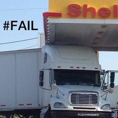 Truck Driver Fail.  #Epic #Fail