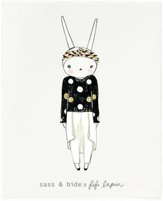 dress the world's most fashionable bunny with the SASS & BIDE x FIFI LAPIN WORKSHOP! view my card, dress your own & spread bunny kisses… for every creation sent, we'll donate $1 to Barnados Australia! #SASSANDBIDE