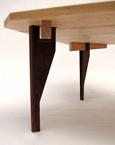 The table has detachable legs. If you have problems with space, we have a solution: this table is very practical because it doesn't occupy room when you do Cheap Furniture, Wooden Furniture, Table Furniture, Home Furniture, Furniture Cleaning, Furniture Removal, Industrial Design Furniture, Furniture Design, Wood Joints