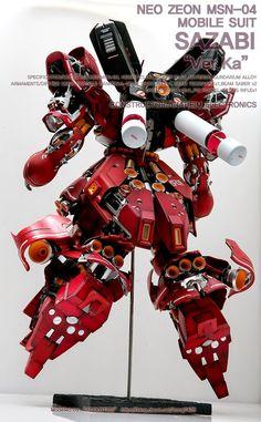 GUNDAM GUY: MG 1/100 Sazabi Ver. Ka 'Open Hatch' Ver. - Customized Build