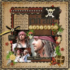 #disney #scrapbook #layout Perfect for when CJ got to train with captain jack!