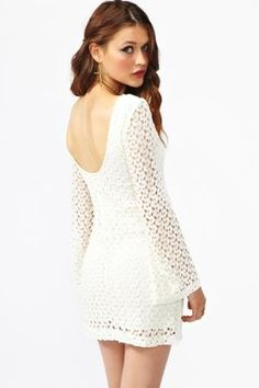 Jane Crochet Dress in What's New at Nasty Gal