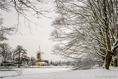 Gorgeous winter photo by Rich Theemling of #Winter Windmill in #holland