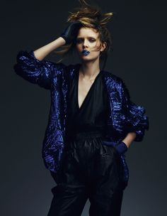 Key looks for autumn 'Techno fabrics' | Josephine Skriver | Andrew Yee #photography | How To Spend It