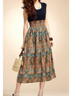 BG-impression Retro Bohemian Sleeveless Dress
