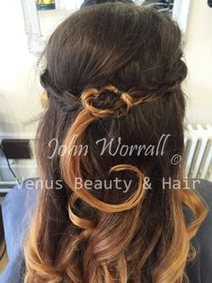 Megan's hair before she headed to the Mount Kelly ball. We love the intricate plaits against the big bouncing curls.