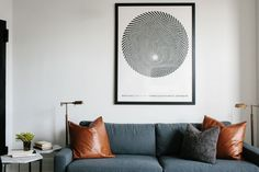 A cool monochrome space in Brooklyn, New York. Photography Brian W Ferry. Original article appeared in Lonny / Mackenzie Schmidt.