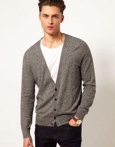 Love the ASOS Cardigan on Wantering | $25 | mens grey cardigan | mens sweater | menswear | mens fashion | mens style | wantering http://www.wantering.com/mens-clothing-item/asos-cardigan/aazog/