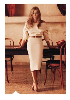World Country Magazines: Jennifer Aniston - Ravishing In Red For InStyle February 2015