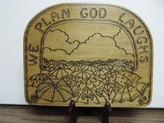 Wood Carved Inspirational Plaque Religious by FogHollowStudios