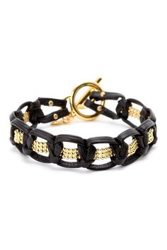 Valencia Leather Bracelet by Gorjana on @HauteLook