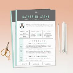 Resume Template / CV Template  Cover Letter for by OddBitsStudio, $16.80