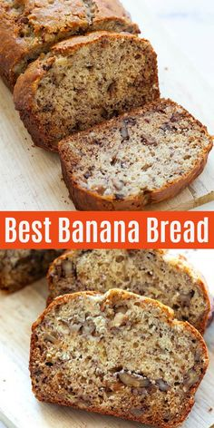 Best banana bread recipe with overripe bananas, walnuts and brown sugar. This recipe is so easy and can be made by hands, without a mixer. The banana bread is crazy moist, sweet, loaded with bananas and walnut! Healthy Bread Recipes, Banana Bread Recipes, Moist Banana Bread Recipe Sour Cream, Banana Bread With Buttermilk, Best Banana Cake Recipe Moist, Frozen Banana Recipes, Healthy Banana Bread, Homemade Banana Bread, Banana Walnut Bread Moist