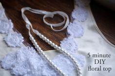 Tutorial: 5 Minute DIY Floral Top with May Arts Ribbon