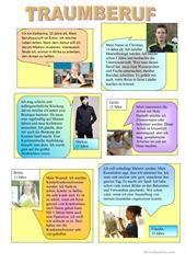 BERUFE Arbeitsblatt - Kostenlose DAF Arbeitsblätter German Grammar, German Language Learning, Cool Websites, Woman Quotes, Vocabulary, Germany, Thing 1, Exercise, Teaching