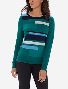Colorblocked Sweater from THELIMITED.com