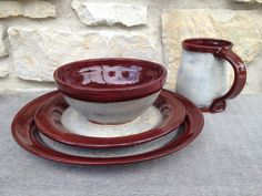Wheel Thrown Pottery Place Settings - Made to order