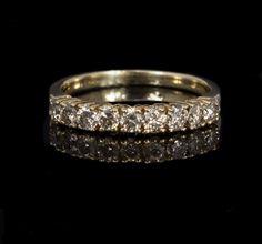 Ladies 10k Yellow Gold, .63cttw Diamond Wedding Band $214