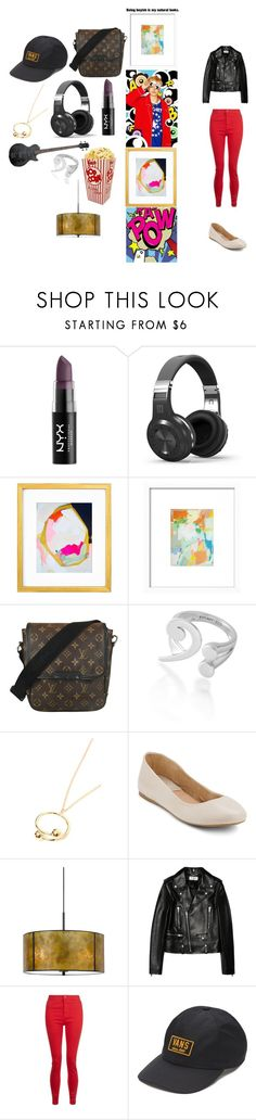 """""""amber-f(x)"""" by chanbaek614 ❤ liked on Polyvore featuring NYX, Louis Vuitton, J.W. Anderson, G.H. Bass & Co., F, Cal Lighting, Yves Saint Laurent and Vans"""