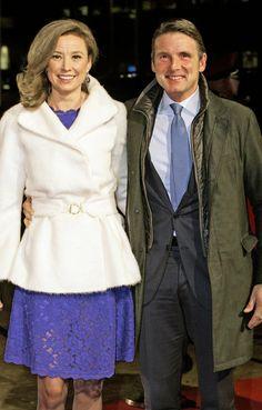 koninklijkhuis:  Dutch Royal Family Celebrates Pieter Van Vollenhoven's 75th birthday, December 8, 2014-Prince Maurits and Princess Marilène