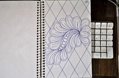 Here is more Quilting Inspiration from my Sketch Book... Top of Page .....Curvy Grid Bottom of Page ....Larger version of Cu...