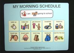 autism daily schedules | School Morning Schedule Picture Card Pecs Autism Daily | eBay