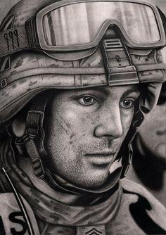 'SOLDIER' graphite drawing by Pen-Tacular-Artist.deviantart.com on @deviantART
