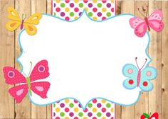 Borders For Paper, Borders And Frames, Book Cover Background, Cake Logo Design, Boarder Designs, School Frame, Blog Backgrounds, Cute Frames, Butterfly Party