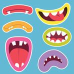 Cute Monsters Mouths Digital Clip art Set,Monster Grin,Photo Booth Printable Birthday Party, cards,scrapbooking and all paper crafts. Monster Clipart, Little Monster Party, Monster Crafts, Monster Face, Monster Munch, Clip Art, Cute Monsters, All Paper, Photo Booth Props