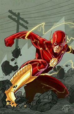 Flash (DC Comic ) - Visit to grab an amazing super hero shirt now on sale!The Flash (DC Comic ) - Visit to grab an amazing super hero shirt now on sale! Comic Book Characters, Comic Book Heroes, Comic Books Art, Comic Art, Flash Comics, Dc Comics Art, Marvel Dc Comics, Wally West, Flash Wallpaper