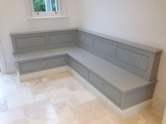 Tom Howley Bench Seat with storage Diy Window Seat, Kitchen Benches, Booth Seating In Kitchen, Home, Storage Bench Seating, Kitchen Booths, Interior Design Diy, Dining Bench With Storage, Storage Bench