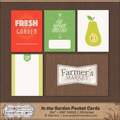 Quality DigiScrap Freebies: In The Garden journal cards freebie from Peppermint Creative