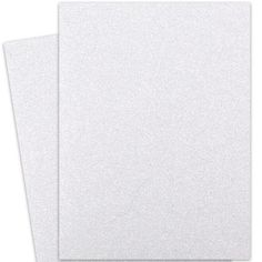 Glitter Paper - DIAMOND WHITE Full Size Paper Specialty coated glitter paper for durability and no shedding. colorful glitter which cuts nicely a