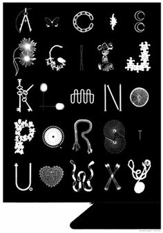 Black*Eiffel: Photogram Alphabet