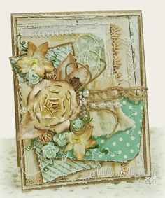 Shabby Chic All Occasion Card featuring My Minds Eye patterned papers...