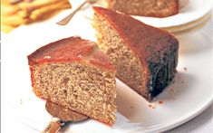 This simple banana sponge will be very popular as it is fairly deep but has a   crunchy lemon topping.