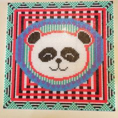 Panda Hama perler bead art  by Lisa Haulrik