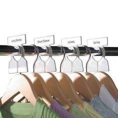 Clothing rack dividers that'll make seasonal closet organization crazy easy.