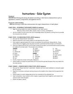 Science Quiz For Grade 5 Solar System - solar system part ...