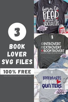 These free book svg designs are great to use with your Silhouette or Cricut cutting machine. They are perfect for the bookworm in your life. Free Svg Cut Files, Svg Files For Cricut, Free Books, Good Books, Past My Bedtime, Text Style, Fb Page, Personalized T Shirts, Silhouette Projects