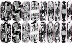 Puppy Love Custom Jamberry Wrap by Amanda #nailartstudio #jamberrynails #pitbulls