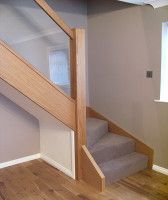 Oak and glass stair renovation