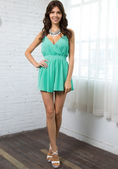 The mint surplice romper is the perfect piece to spice up your spring wardrobe. It'll surely give collection a dose of casual elegance with ...