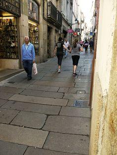 Rúa da Caldeirería. Santiago de Compostela, Spain