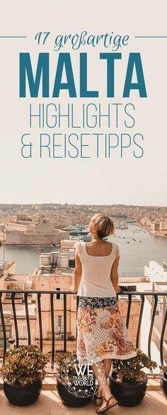 Malta Urlaub – Hier findest du 17 Malta Reisetipps und Malta Highlights für deine Malta Reise. Wir geben dir Tipps für Valletta aber auch Malta Strände und Malta Wanderungen. #malta #urlaub #reisetipps #highlights
