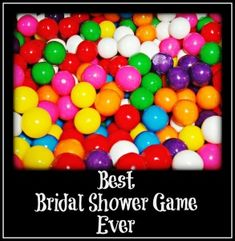 Not to Burst your Bubble(gum) is the best bridal shower game ever | directions to play AND a list of 25 great newlyweds style questions to ask the bride.