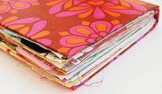delicious mismatched pages & #layers in this #art_journal #diary