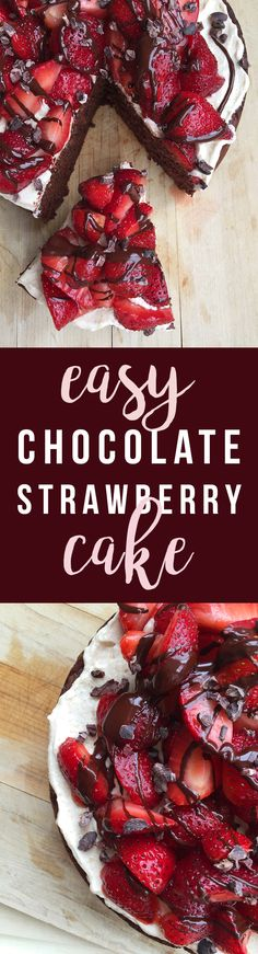 This delicious Easy Chocolate Strawberry Cake (grain-free, nut-free, dairy-free, fruit sweetened) can be as simple or as decadent as you choose. Click to read the recipe or pin to save for later!   GrokGrub.com