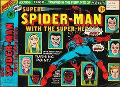 Marvel UK's Super Spider-Man with the Super-Heroes #170.  #SpiderMan #MarvelUK