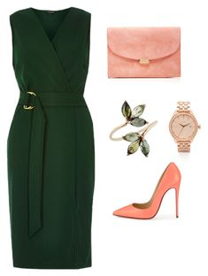 """Classic style"" by amelia1985 on Polyvore featuring Mansur Gavriel, Christian Louboutin, River Island, Nixon, women's clothing, women's fashion, women, female, woman and misses"